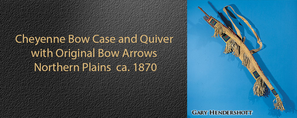Cheyenne Bow Case and Quiver with Original Bow Arrows