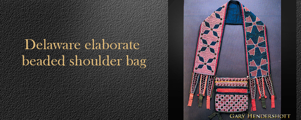 Delaware elaborate beaded shoulder bag