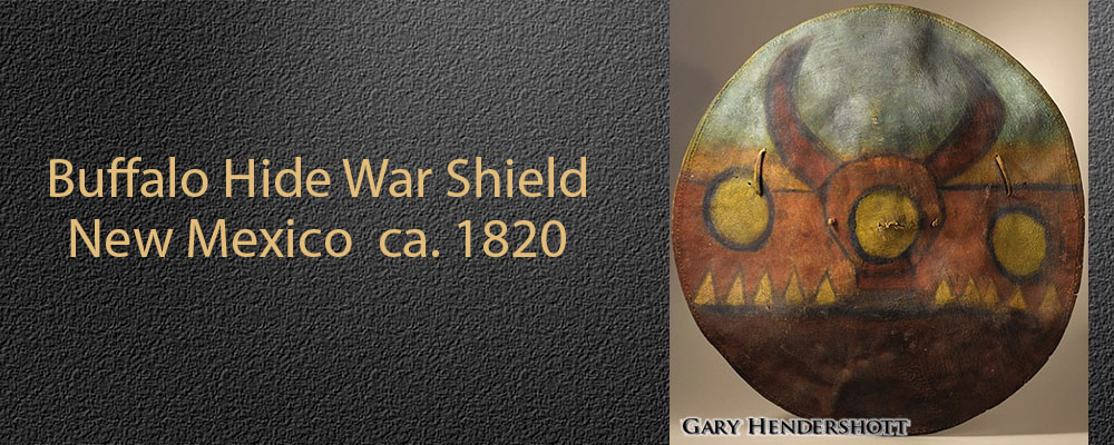 Navajo Buffalo Hide War Shield
