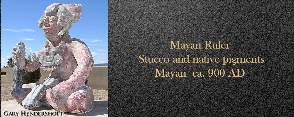 Mayan Ruler Stucco and native pigments