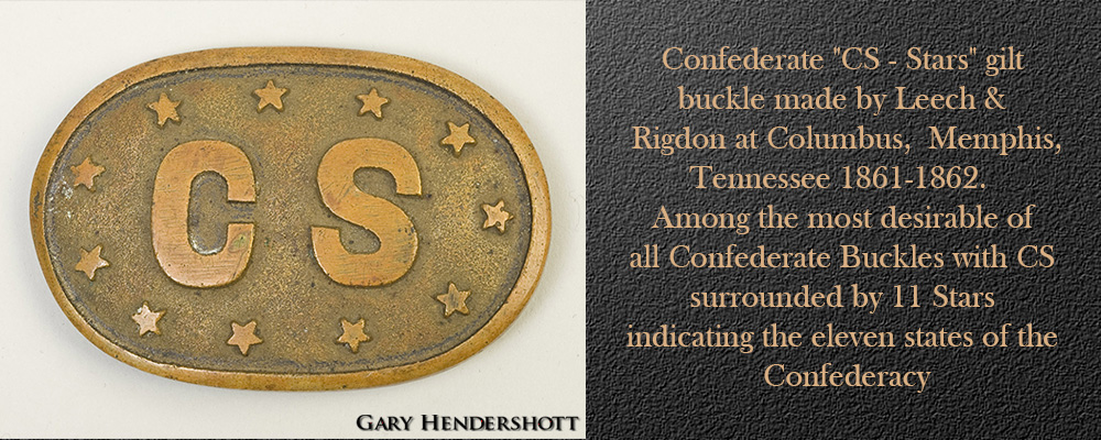 Confederate - CS-Stars gilt buckle