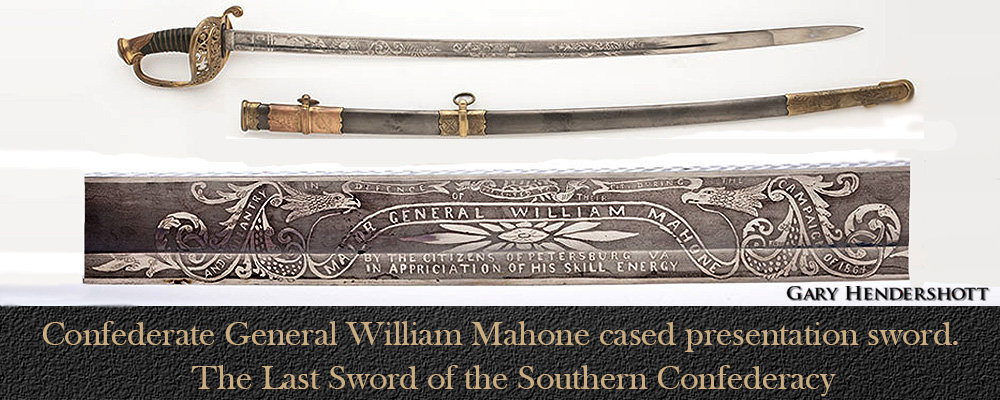 Confederate General William Mahone sword