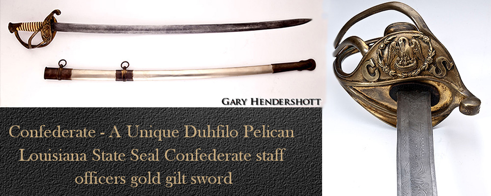 A unique Duhfilo pelican sword