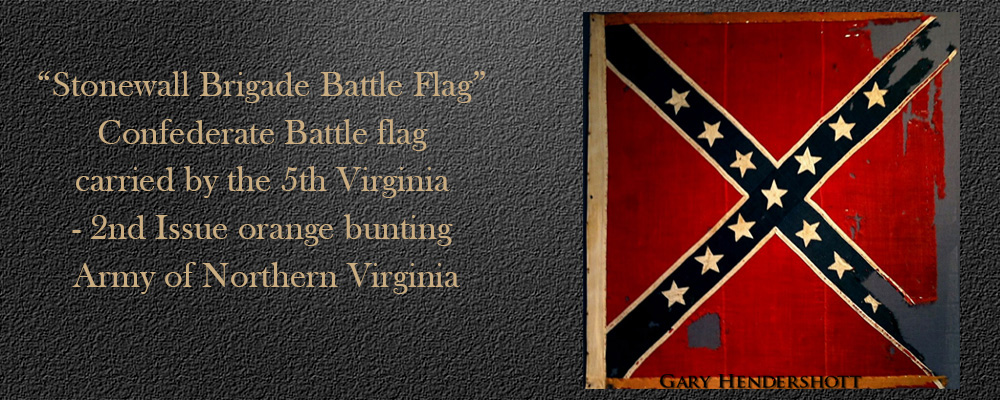 Stonewall brigade battle flag