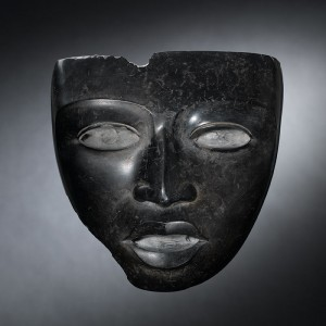 01 Black marble female mask